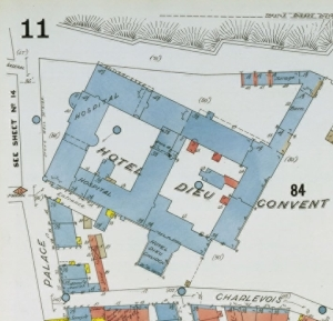 Extrait de Insurance plan of the Cityof Quebec, Canada [volume I], Charles Edward Goad, 1898, British Library, Maps 147.b.23.(1.),BANQ